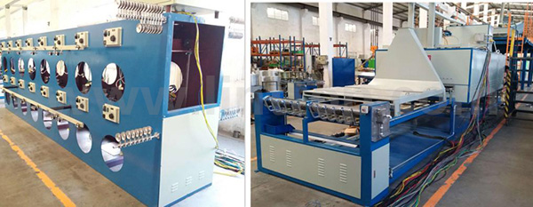 Horizontal enameling machine