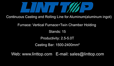 Continuous Casting and Rolling Line for Aluminum(aluminum ingot )